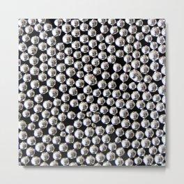 Sugar Pearls Silver – Clock 4 - Living Hell Metal Print