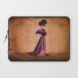 Girl in purple dress, Edwardian style Laptop Sleeve