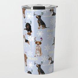 Coonhound Antlers Peace Travel Mug