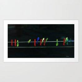 Colors on String Art Print