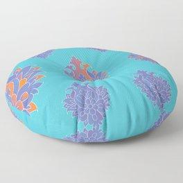 Shah-Abbasi Flower (Blue) Floor Pillow