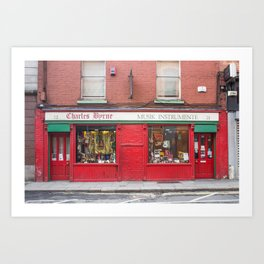 Music Instrument Store in Dublin Art Print