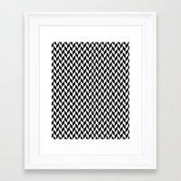 herringbone Framed Art Prints featuring Herringbone. by ∞ ♡ ☮