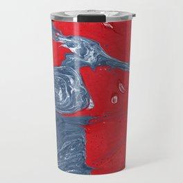 Denim Marble Painting Travel Mug
