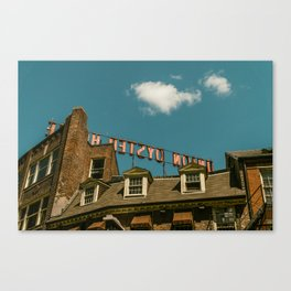 On the Rooftop Canvas Print