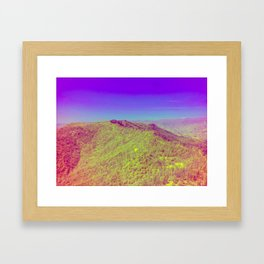 Rough Fire Line - Multispectral Framed Art Print