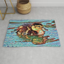 Duckling Dream | Painting  Rug