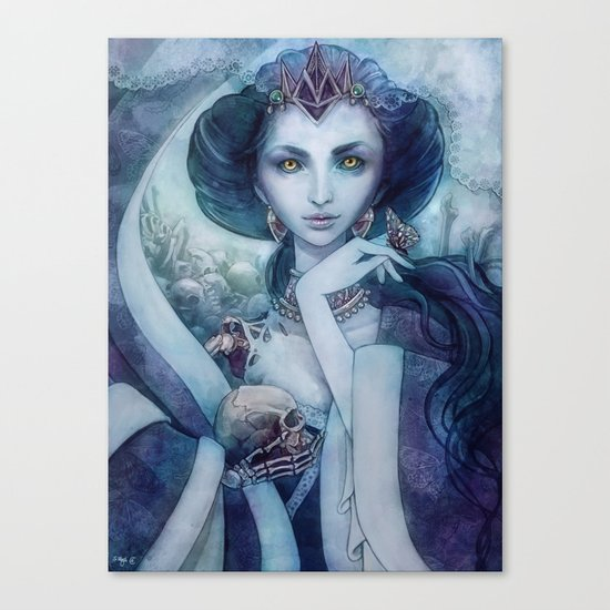 Queen of the dead Canvas Print
