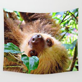 Awesome Sloth Wall Tapestry