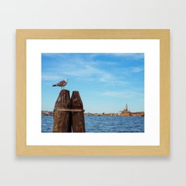 Venice: Giudecca Canal Framed Art Print