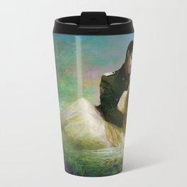 Love me tender - Sad couple in loving embrase in the lake Travel Mug