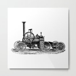 Steam car Metal Print