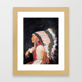 The Sitting of Iron Tail Framed Art Print
