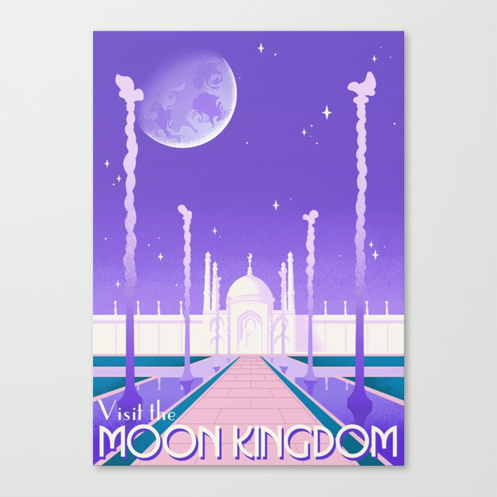Visit the Moon Kingdom / Sailor Moon Canvas Print