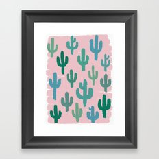 Candy Cactus Framed Art Print