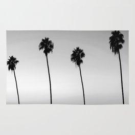 Black and White San Diego Palms - California Rug