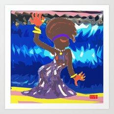 Lady Soul Art Print