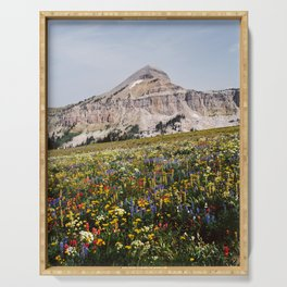 Fossil Mountain Wildflowers Serving Tray
