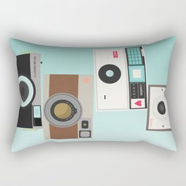 Retro Camera Print  Rectangular Pillow