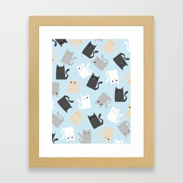 Scattercats Framed Art Print