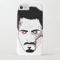 robert downey jr iPhone & iPod Cases featuring Zombie Robert Downey Jr. by Roman Jones