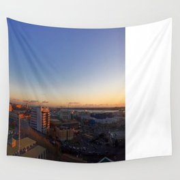 Sunset on the City Wall Tapestry