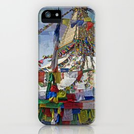 NEPALI PRAYERS CARRIED BY THE WIND FROM FLAGS iPhone Case