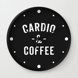 Cardio & Coffee Funny Gym Quote Wall Clock