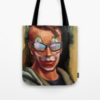 grand theft auto Tote Bags featuring Grand Theft Auto Online Characters - The Legend of The Damned by W_Flemming
