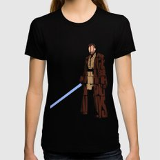 Obi-Wan Kenobi Womens Fitted Tee Black MEDIUM
