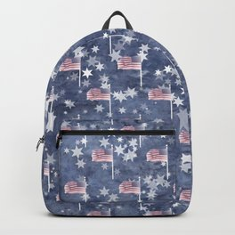 American Flag Aglow, star spangled patitic pattern Backpack