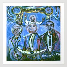 Huey Nick and I... Under the Pope Smiling Art Print