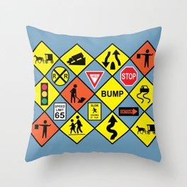Street Signage Throw Pillow