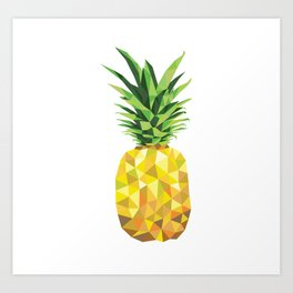 Pineapple Abstract Triangular  Art Print