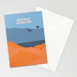 Winged Living Creatures Soaring High In Death Valley National Park Stationery Cards