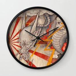 雲龍図 黒龍 天道-cloud dragon- Wall Clock