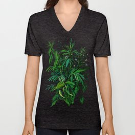 Green & Black, summer greenery Unisex V-Neck