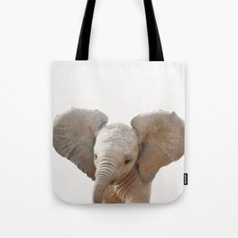 Baby Elephant, Baby Animals Art Prints by Synplus Tote Bag