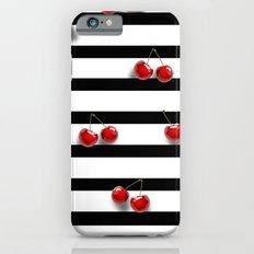 Cherry Stripes iPhone 6s Slim Case