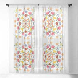 A Symphony Of Floral Delights Sheer Curtain