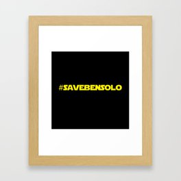 #SaveBenSolo Framed Art Print