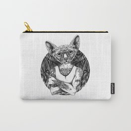 Sphynx Black Carry-All Pouch