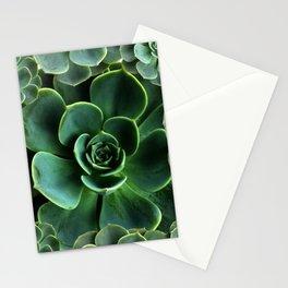 JADE GREEN SUCCULENT ROSETTES DESIGN Stationery Cards