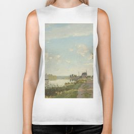 Argenteuil by Claude Monet Biker Tank