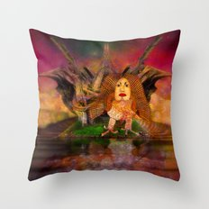 Wisdom only spreads its wings when souls true light begins to sing Throw Pillow