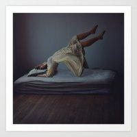 Moon Beams, light dreams Art Print