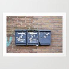 Mailboxes Art Print