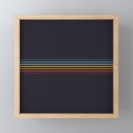 Thin Stripes Retro Colors Framed Mini Art Print
