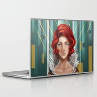 transistor Laptop & iPad Skins featuring We All Become by Countmoopula
