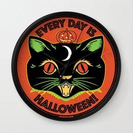Every Day is Halloween Wall Clock